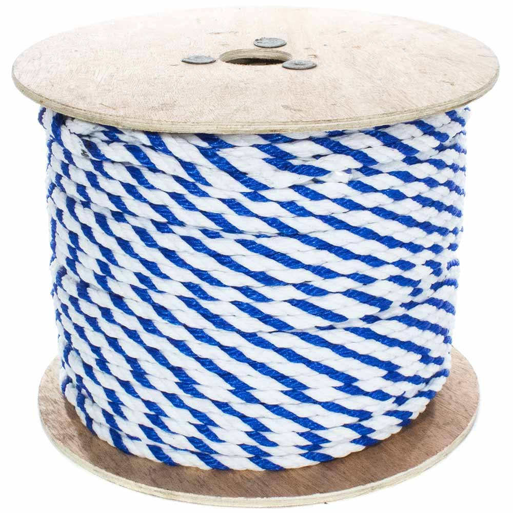 West Coast Paracord Twisted Polypropylene Pool Rope 1/4, 3/8, 1/2, 3/4