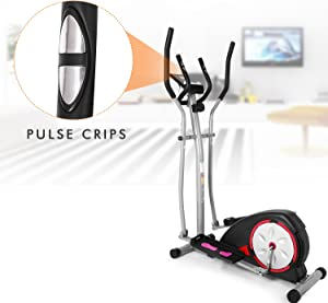 Aceshin Elliptical Machine Trainer Compact Life Fitness Exercise Equipment for Home Workout Office