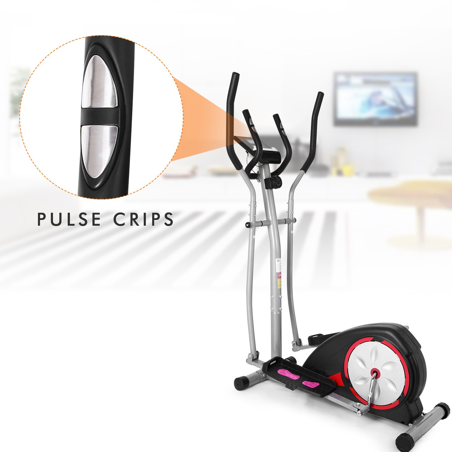 Aceshin Elliptical Machine Trainer Compact Life Fitness Exercise Equipment for Home Workout Offic Gym (Gray2) by Aceshin (Image #4)