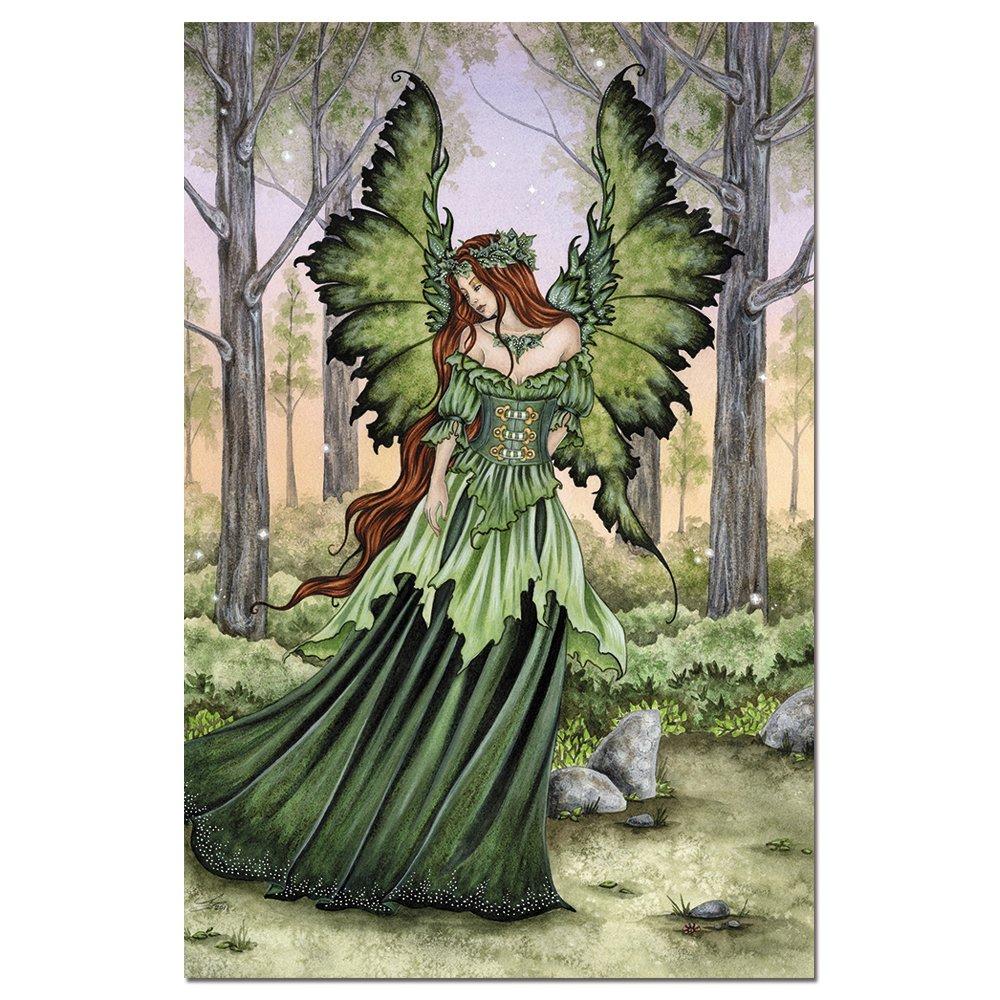 Amy Brown Birth of Magic Dragon Fairy Greeting Card NEW