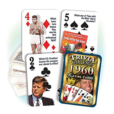 Flickback 1960 Trivia Playing Cards: 60th Birthday or Anniversary: Sports & Outdoors