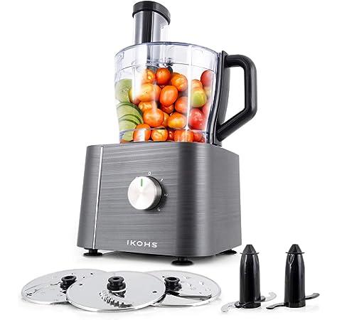 Cuisinart FP16DCE Robot multifunción, 1500 W, 3.8 litros, De plástico, Plata: Amazon.es: Hogar