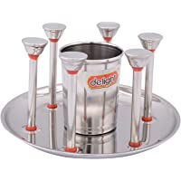Delight S.S Glass Stand (SAIET7, Grey)