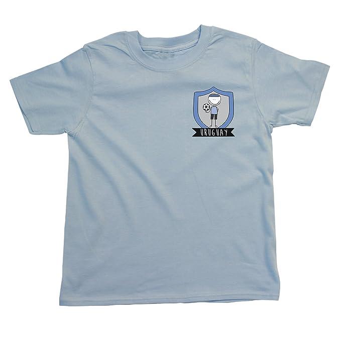 Niños O Niñas Uruguay Fútbol Doodle Team Badge Camiseta Copa Mundial 2018 Kids Fan Sports: Amazon.es: Ropa y accesorios