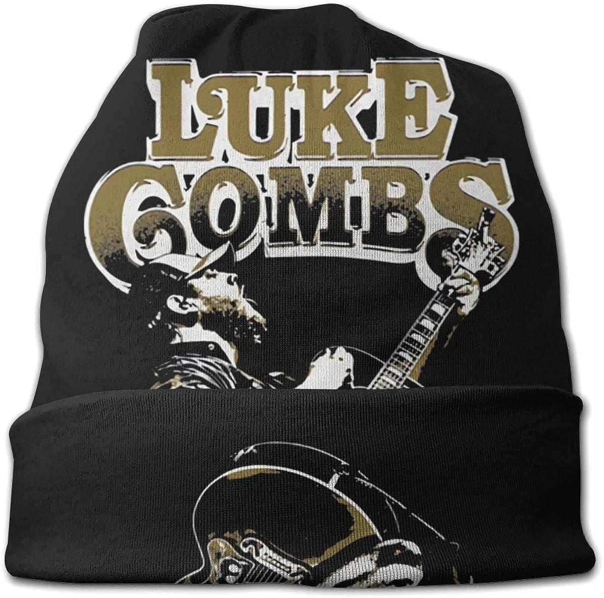 MORGAN MYERS Luke Combs Knit Hat Children Teenager Knit Hats Fashion Casual Beanie Hat 3D Pattern Skull Hat Unisex Knit Cap