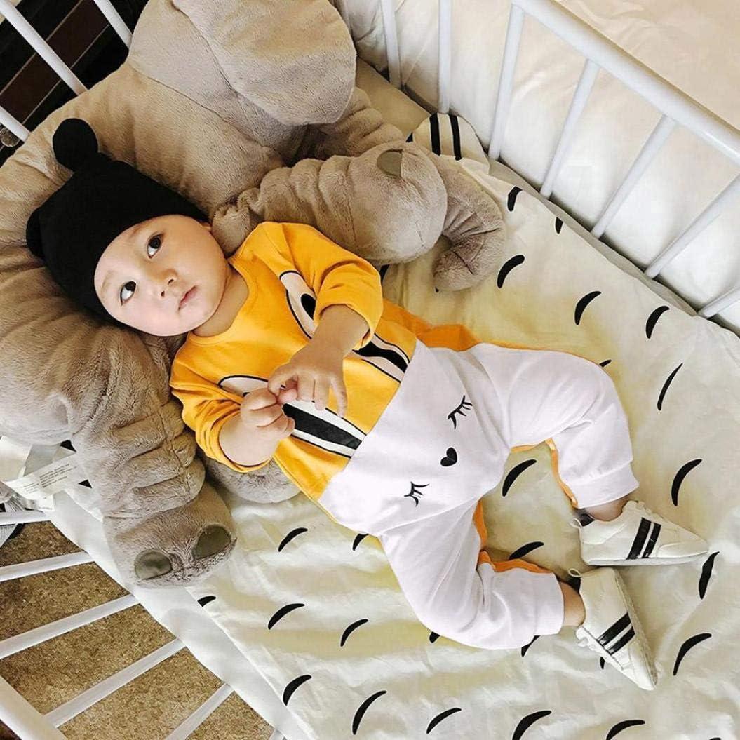 kaiCran Baby Romper,Newborn Baby Girls Long Sleeve Cute Bodysuit Rabbit Print Romper Jumpsuit Casual Outfits Clothes