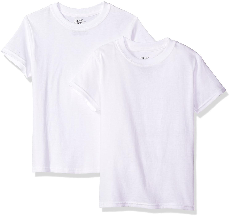 Hanes Big Boy's Ultimate ComfortSoft 2 Pack Crew T-Shirt BUS36W