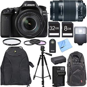 Amazon.com: Canon EOS 80D CMOS Cámara DSLR con EF-S 0.709 ...