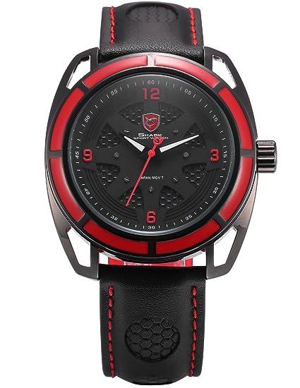 Thresher Shark Deportivos Relojes De Pulseras Hombre Piel SH472: Amazon.es: Relojes