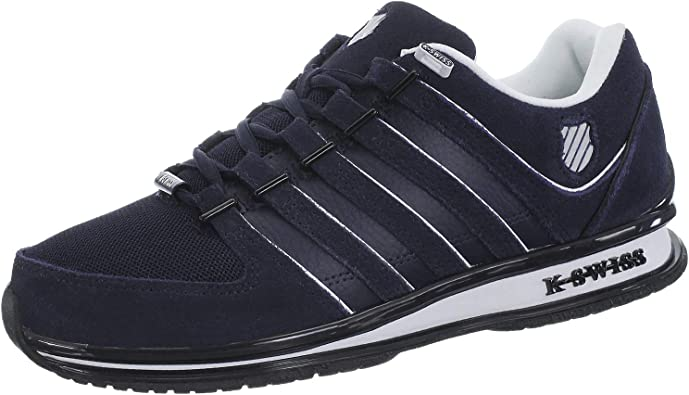 K-Swiss Rinzler SP Leather Trainers Mens Fashion Tennis Court Shoes White Black