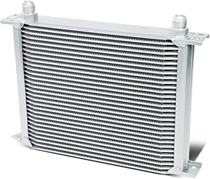 30-ROW ENGINE//RADIATOR//TRANSMISSION 10AN SILVER ALUMINUM OIL COOLER