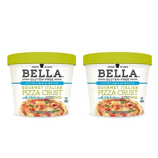Bella Gluten-Free Italian Pizza Crust Dough Mix Premium Casein Free Healthy Flour, 6.6 oz (2 Pack)