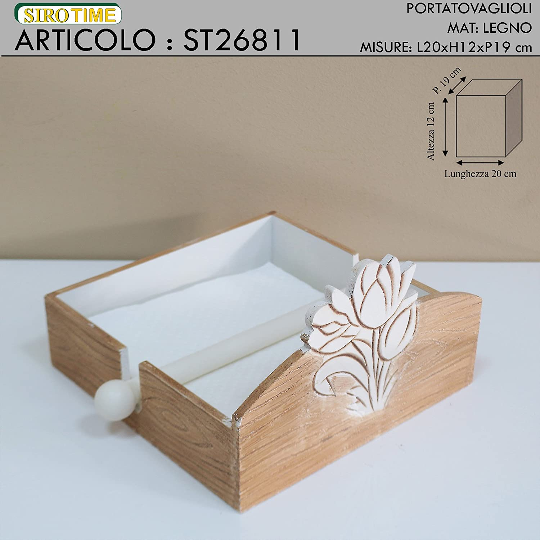Siro Time Mobile, Bianco/Legno, Taglia Unica Siro Time S.R.L. ST26811