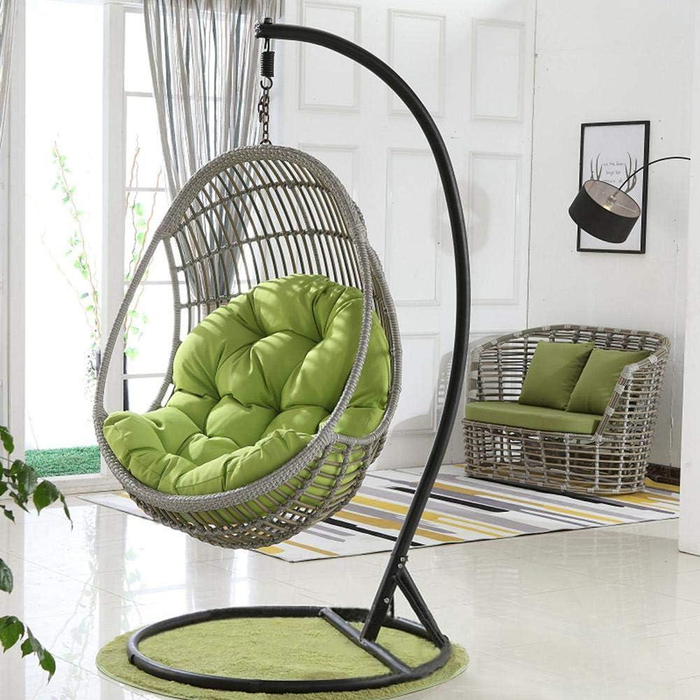 Mississ Altalena appesa Carrello Ammortizzatore di sede Addensare Hanging Egg Chair Amaca Pad Impermeabile Ammortizzazione sede della Sedia per Patio Giardino 90x120cm