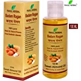 Pahul Herbal Badam Rogan | Sweet Almond Oil 100% Pure & Natural from Kashmiri almond- 100 ml