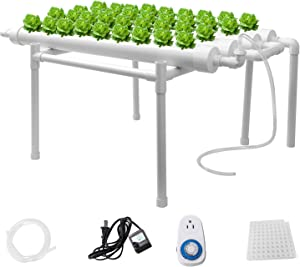 Sidasu Hydroponic Grow Kit 36 Sites 5 Pipes Hydroponic Planting Equipment Ebb and Flow Deep Water Culture Balcony Garden System Vegetable Tool Grow Kit