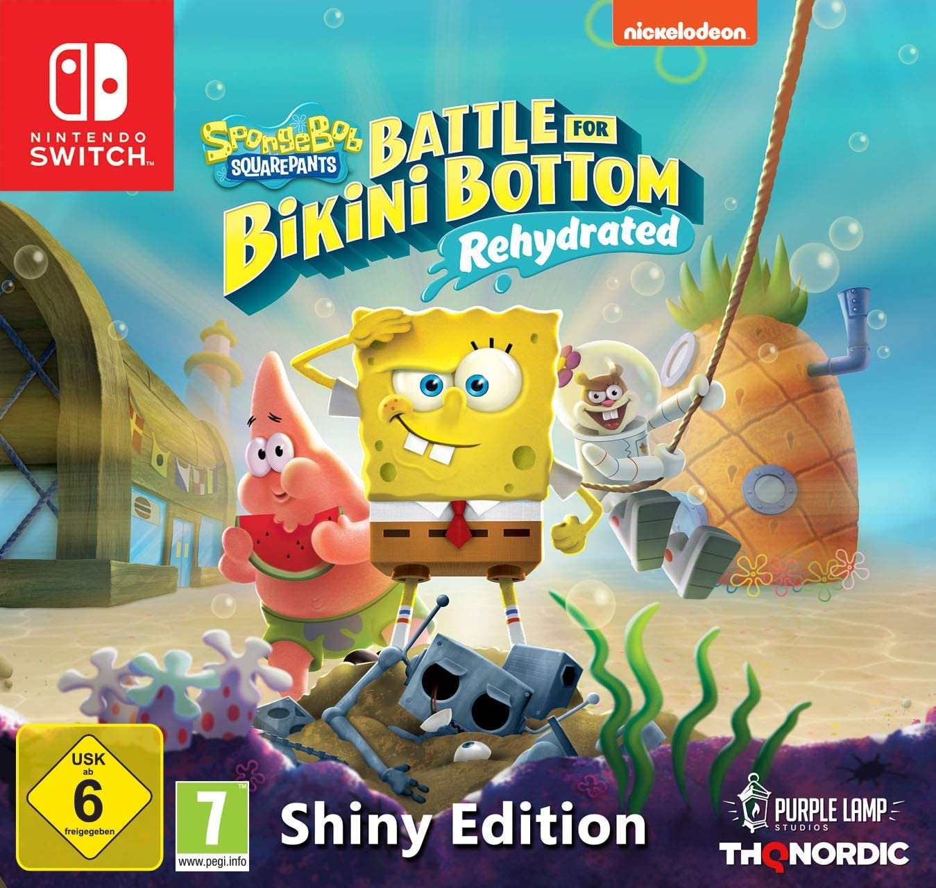 Spongebob SquarePants: Battle for Bikini Bottom Rehydrated - Edición Shiny (Nintendo Switch): Amazon.es: Videojuegos
