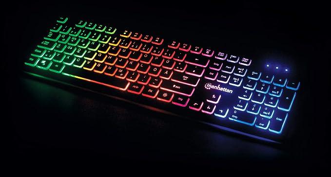 Manhattan Usb Gaming Tastatur Mit Leds Schwarz Computer Zubehör