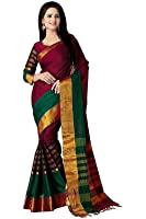 Birami Ethnics Cotton Silk Saree (Bf5027, Multicolor, Free Size)