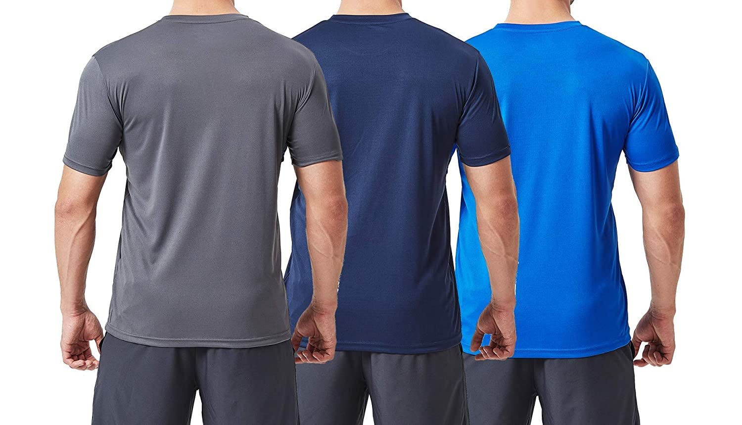 3 pcs Set TEXFIT Mens 3 Pack Active Sport Quick Dry T-Shirts