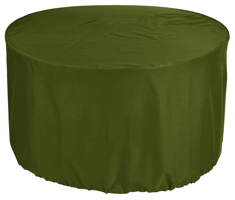 KaufPirat Premium Tarpaulin Round Diameter 155 x 90 cm Garden Furniture Cover Cover Olive Green