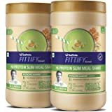 Saffola FITTIFY  Hi Protein Slim Meal-Shake, Meal Replacement with 5 superfoods, Pistachio Almond, 420 gm (12 servings)-Buy One Get One Free