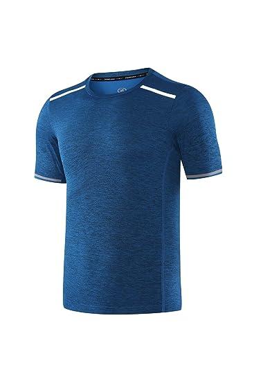 Moquite Hombre Camisetas Deportivas Wicking Quick Dry Short Sleeve Camiseta tee T-Shirt Sport Tops Deporte: Amazon.es: Ropa y accesorios