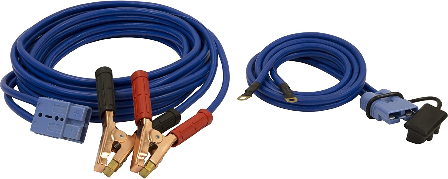 Buyers Products 5601025 28 Foot Long Booster Cables With Gray Quick Connect