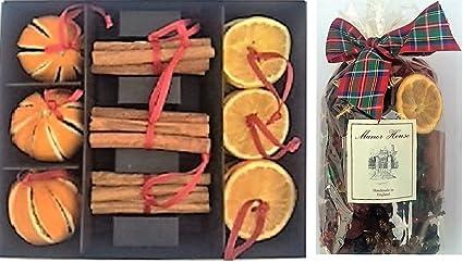 Segnaposto Natalizi Con Cannella.Confezione Da 2 1 Highland Christmas Pot Pourri E 1 Secchi Arancia