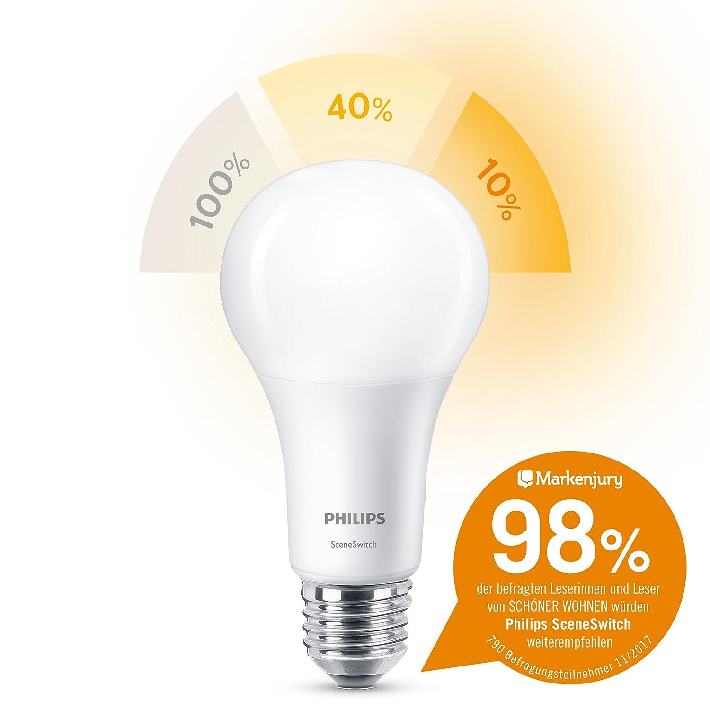 Beautiful Einfache Dekoration Und Mobel Sceneswitch Von Philips #3: Philips 3-in-1 LED Lampe SceneSwitch Ersetzt 100W, EEK A+, E27: Amazon.de:  Beleuchtung