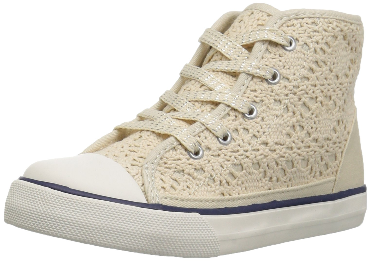 The Children's Place Kids' Sneaker,Ivory-BG Lace Rockstar,3 M US Little Kid