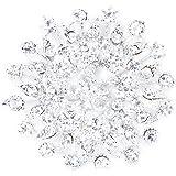SODIAL(R) Scintillant Crystal strass Nuptiale Bouquet de Mariage Argent Fleur Broche