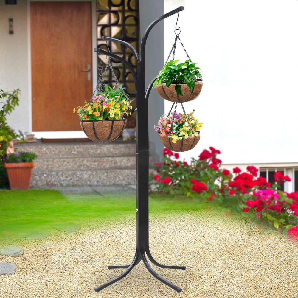 Amazon.com: World Pride 4 Basket Arm Tree Cascade Hanging Patio Stand  Garden Plant Patio New Planter: Garden U0026 Outdoor