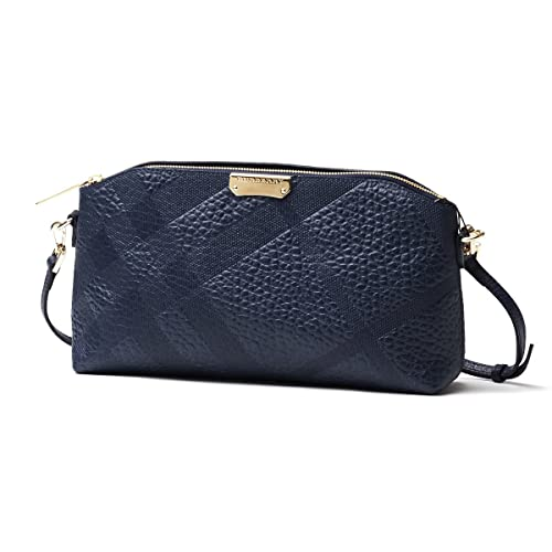 dffe32b5881b Burberry Chichester Blue Check Pebbled Leather Clutch Cross Body Handbag Bag   Amazon.ca  Shoes   Handbags