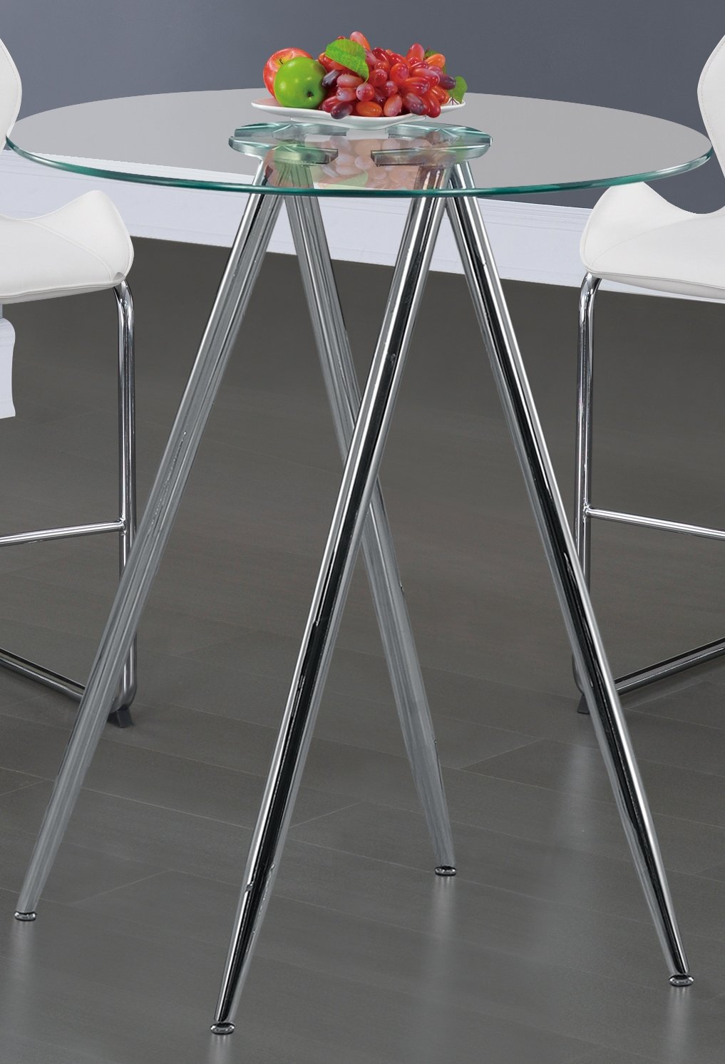 Global Furniture Bar Table, Chrome