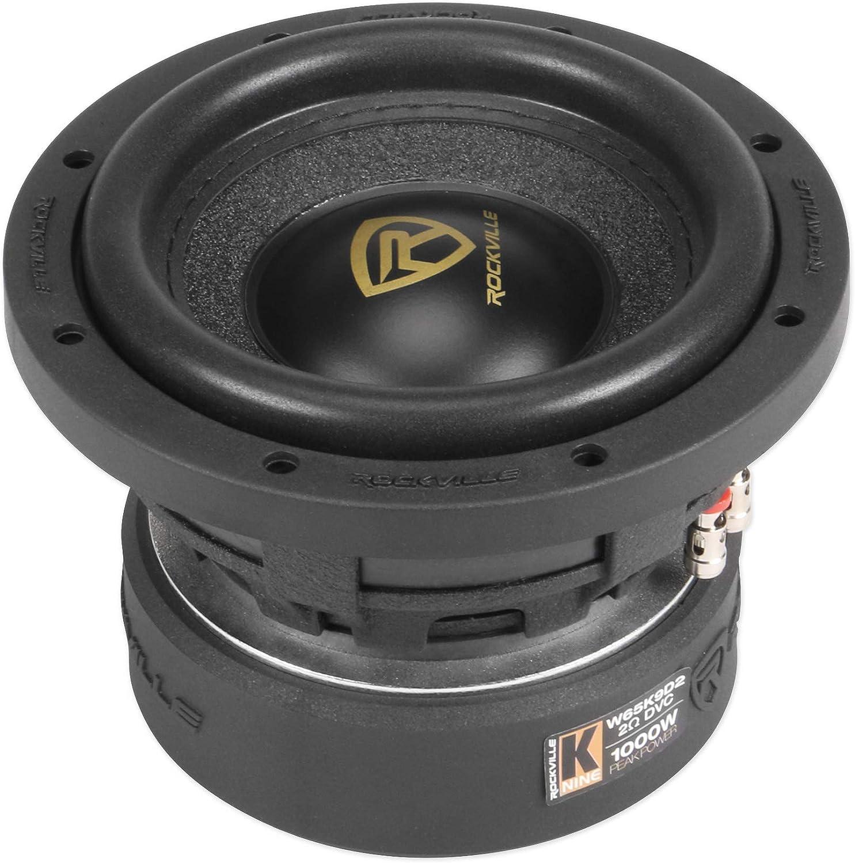 Rockville W10K6D2 V2 10 2000w Car Audio Subwoofer Dual 2-Ohm Sub CEA Compliant