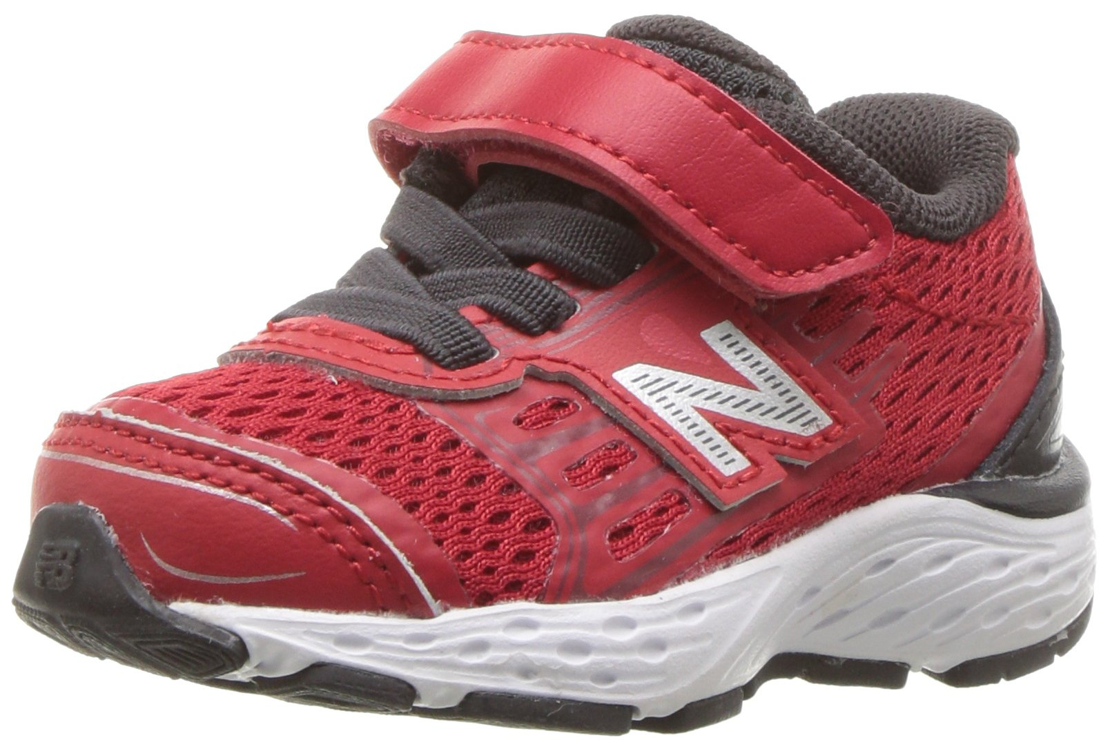 New Balance Boy's 680V5 Hook and Loop Running Shoe, Team Red/Phantom, 5.5 M US Toddler by New Balance
