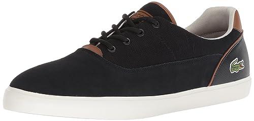 4b22a7d3c Lacoste Men s Jouer Sneaker Black Tan Canvas 9.5 D(M) US  Buy Online ...