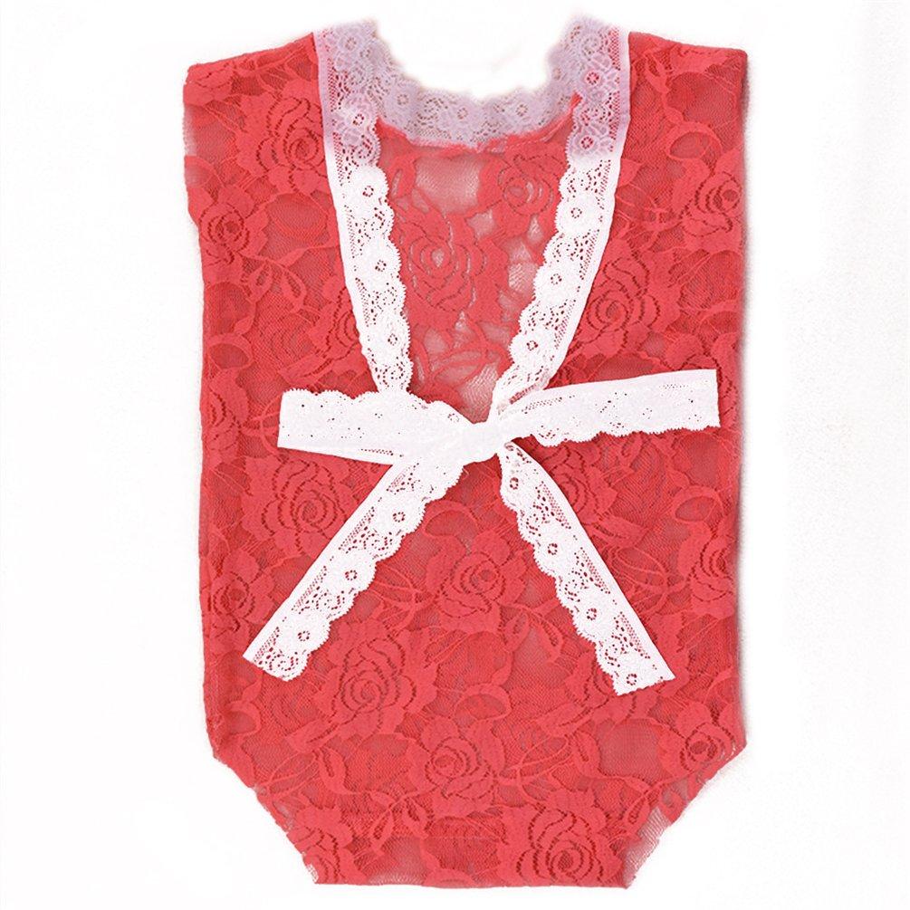 bismarckbeer bebé recién nacido Niñas fotografía Props lazo de encaje trajes Pelele Body de espalda descubierta rosa rosa Talla:talla única: Amazon.es: Bebé