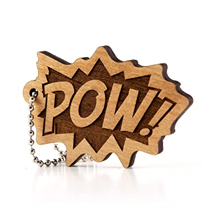 Amazon.com: Sunset Design Lab POW! Comic Style Wood Laser ...