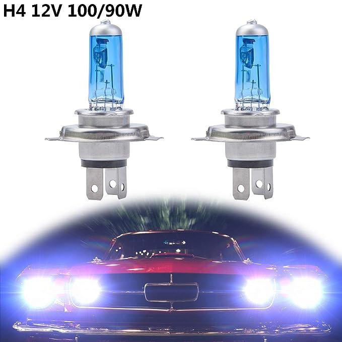 1 opinioni per Fansport Lampadina Auto, Lampadine 2Pcs H4 12V 100W 6000K Lampadine a LED