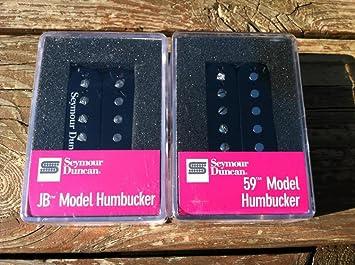 Amazon.com: Seymour Duncan SH-4 JB Bridge & SH-1 59 Neck BLACK ...