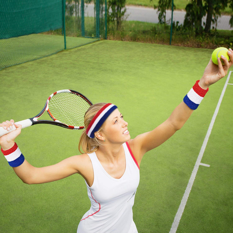 Basketball schwei/ßband Handgelenk /& Sport Stirnband YULIXIN Schwei/ßb/änder Set f/ür Herren und Damen 3 Packs f/ür Tennis Wei/ß Laufen Fitness