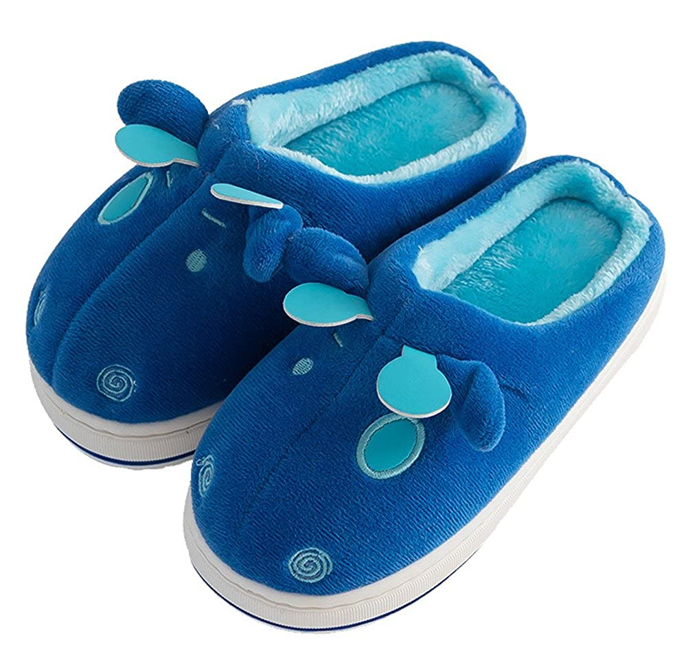 Cwait Animal Warm Fluffy Slippers House Funny Kids Slippers Little Kid