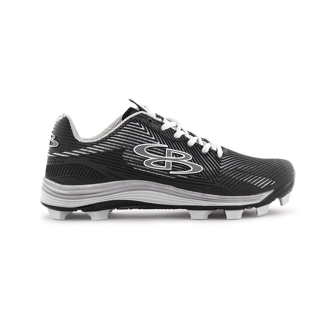 Boombah Women's Spotlight Molded Cleat Black/White - Size 9.5 by Boombah