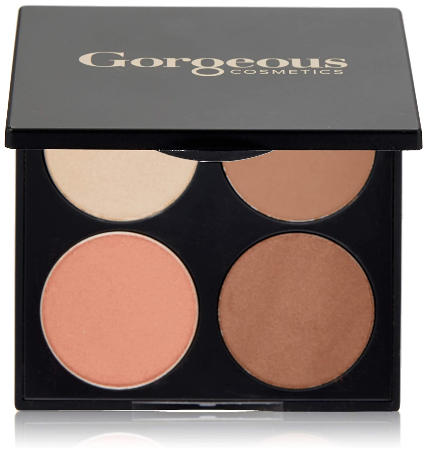 Gorgeous Cosmetics All-In-One Eyeshadow Palette, for Blue Eyes, 4 shades, Compact with Mirror
