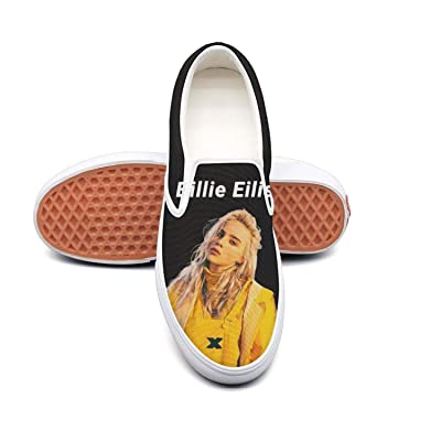 Billie-Eilish Classic Canvas shoes Slip On Skate Sneakers women's Fashion Print cool Durable shoe: Clothing