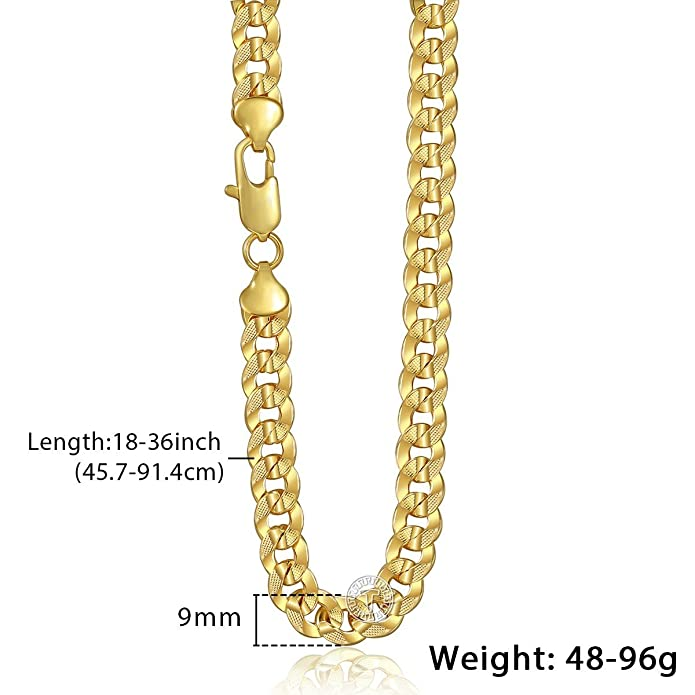 Trendsmax 3mm Women Men Chain Flat Cut Round Curb Cuban Link Rose Gold Plated Necklace 18-36inch 7B7t7TG