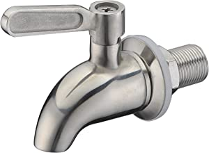 SUCASA Brushed Stainless Steel Beverage Dispenser Spigot Premium Quality Compatible With Gravity Water Filter System