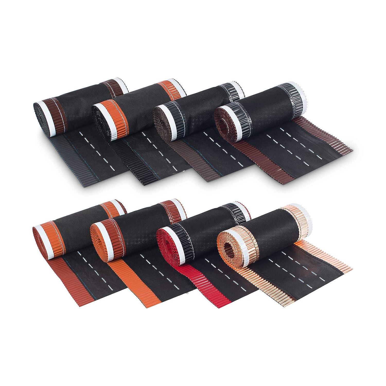 BMD Firstrolle Gratrolle 320 mm x 5m kirschrot RAL 3011 Firstband Gratband Rollfirst Grat First